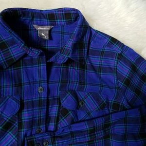 Eddie Bauer blue flannel button down